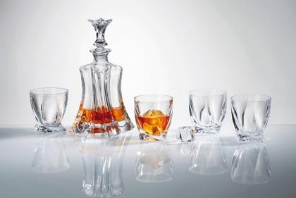 Набор для виски Флорал графин 700мл + 4 стакана 340мл Crystalite Bohemia 99999/9/99E50/797