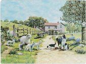 Доска разделочная стеклянная Lesser & Pavey Колли с овечками 40x30см LP94196