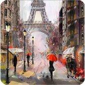 Подставки под стакан Top Art Studio Свидание в Париже 10.5x10.5см, 6шт, пробка GD2814-TA