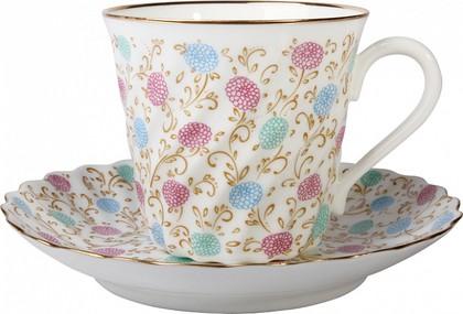 Чашка с блюдцем Хризантема с отводкой, ф. Витая ИФЗ 81.14121.00.1