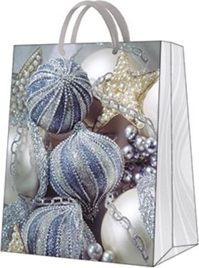 """Пакет подарочный """"Серебрянные игрушки"""" 20x25x10см Paw AGB030903"""