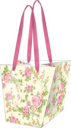 Пакет подарочный бумажный Paw Садовые Розы 20x19x14.5см AGB000120