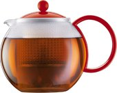 Чайник заварочный с прессом, 1.0л красный Bodum ASSAM 1844-294