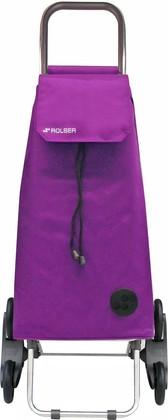 Сумка-тележка хозяйственная фиолетовая Rolser RD6 MOUNTAIN MOU004malva