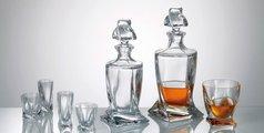 Стаканы для виски Квадро Арлекино 340мл, 6шт Crystalite Bohemia 99999/9/230177/340