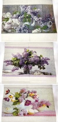 Набор полотенец Сирень 3шт 50x70см, пакет 17c337/193/1пакет