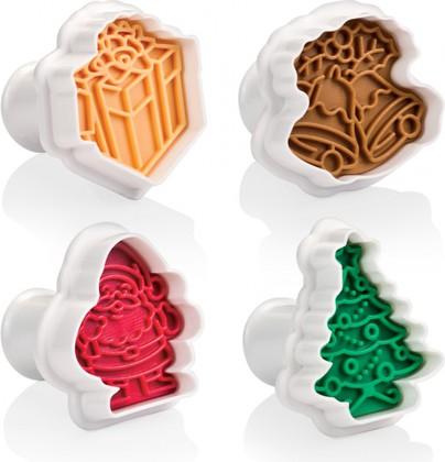 Формочки с печатью для печенья, 4 шт, рождественские Tescoma Delicia 630857.00