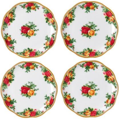 Набор подставок под бокал Розы Старой Англии 4шт 10см Royal Albert 40001861
