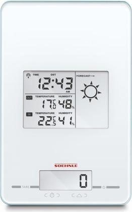 Весы кухонные электронные Soehnle Page Meteo Center, 5кг/1гр, белый 66223