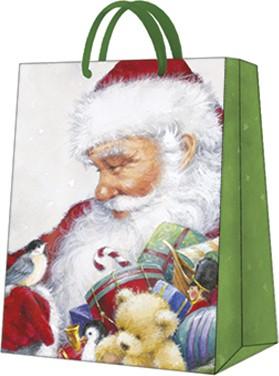 Пакет подарочный бумажный Paw Любимый Санта 26.5x33.5x13см AGB028105