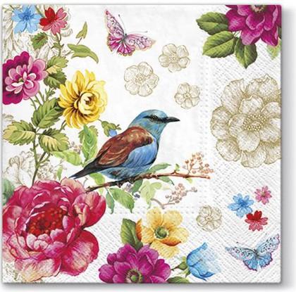 Салфетки для декупажа Райская птица, 33x33, 20шт Paw SDL090600
