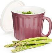 Кружка для супа SagaForm Kitchen с крышкой 500мл, розовая 5017305