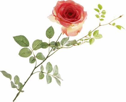 """Floralsilk Искусственные цветы """"Роза Кристина розово-жёлтая"""", длина 80см, артикул 11578MEL"""