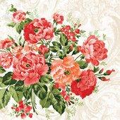 Салфетки Дикие розы, 33x33, 20шт Paw SDL000300