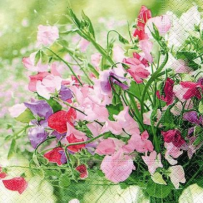 Салфетки для декупажа Нежные цветы, 33x33см, 3 слоя, 20шт Paper+Design 21739