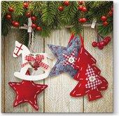 Салфетки для декупажа Paw Рождественская звезда, 33x33см, 20шт. SDL056200