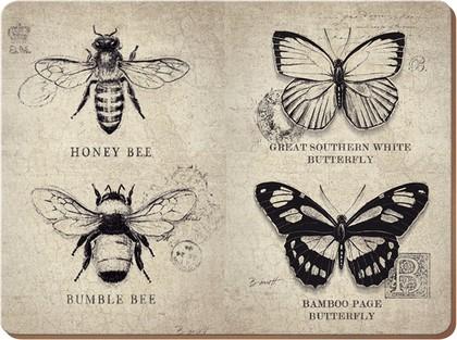 """Подставки на пробке """"Бабочки и пчелы"""" 40x29см, 4шт Creative Tops 5138287"""