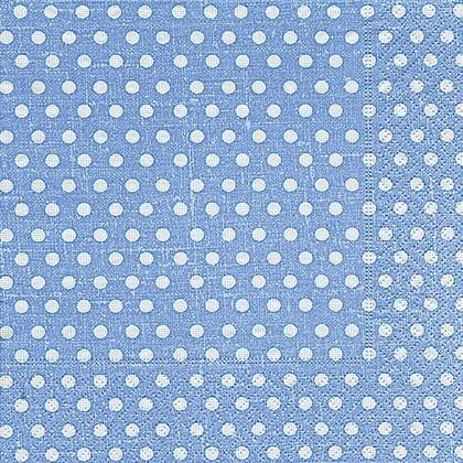 Салфетки для декупажа Голубой горох, 33x33см, 3 слоя, 20шт Paper+Design LN0468