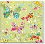 Салфетки для декупажа Вокруг бабочек, 33x33, 20шт Paw SDL054900