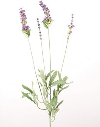 Цветок искусственный Букет Лаванда 4 головки, 60см Floralsilk 12301LV
