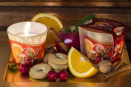 Свеча Новогоднее Время, стакан Bartek Candles 5901685012553
