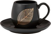 Чашка с блюдцем Ashdene Lantana Black Stone 517200