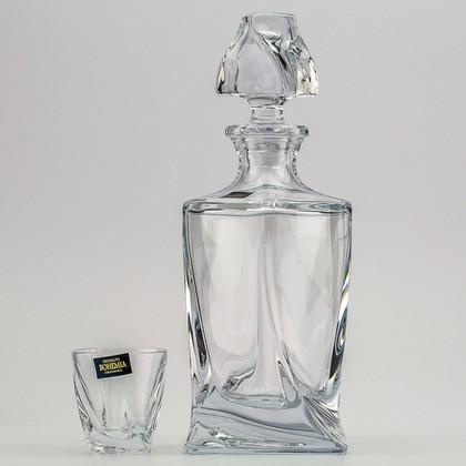 "Набор для ликера ""Квадро"" графин 500мл + 6 стаканов 55мл Crystalite Bohemia 99999/9/99A44/117"