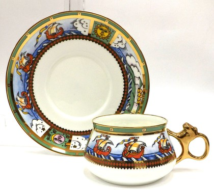 Чашка с блюдцем Остров Буян, ф.Билибина ИФЗ 81.15575.00.1