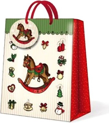 "Paw ROCKING HORSE Пакет подарочный ""Лошадка"", 20x25x10см, артикул AGB017903"