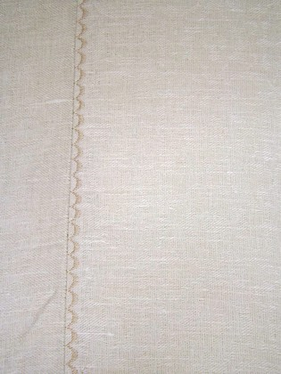 Скатерть Кремовая d250 Белорусский лён 15c128/d250/669/1198