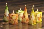 "Свеча ""Бабочка"" пирамида 7х7х24см Bartek Candles 106032"