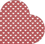 Салфетки для декупажа Paw Сердце красные d32см., 12 шт SDH089800