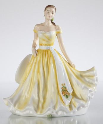 Статуэтка Март/Нарцисс (March/Daffodil), фарфор, 17см English Ladies ELGEFM21003