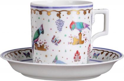 Чашка с блюдцем чайная Нескучный сад 1, ф. Гербовая ИФЗ 81.23634.00.1