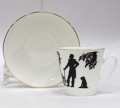 Чашка с блюдцем Встреча, ф. Чёрный кофе ИФЗ 81.16746.00.1