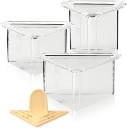 Формочки для придания блюдам формы, треугольники, 3шт Tescoma FoodStyle 422216.00