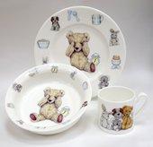 Набор посуды для мальчика Время с Тедди, 3пр. Roy Kirkham XTED1393