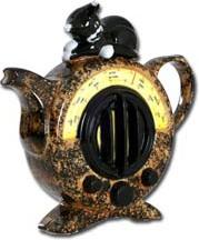 "Чайник коллекционный ""На кошачьей волне"" (Cat Radio Teapot) The Teapottery 4414"