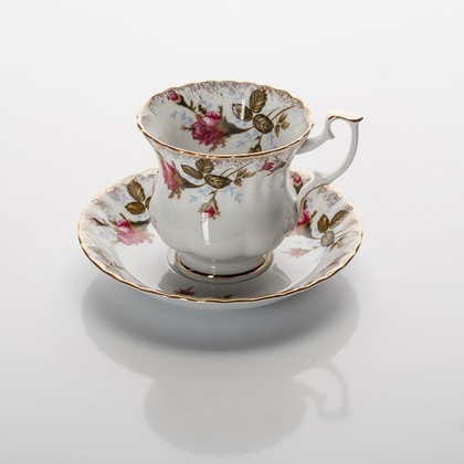 Чайная пара высокая Шиповник 220мл Porcelaine Czech Gold Hands IWB013S220Vх1