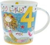 Кружка для девочки С Днём Рождения 4 года Рэйчел Эллен The Leonardo Collection LP32841