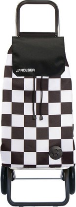 Сумка-тележка Rolser F-Tres, 2 колеса, чёрно-белая MOU124blanco/negro