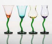 Бокалы для вина Crystalite Bohemia Цветы, 4шт., 250мл 458370/250/BVx4