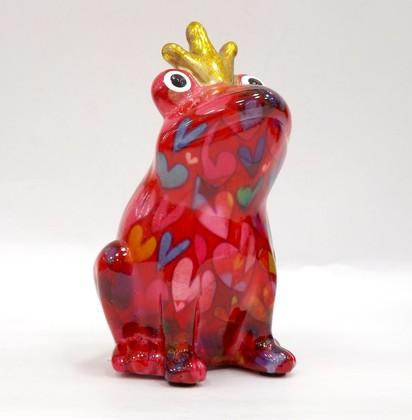 Копилка мини Царевна Лягушка, красный 9x8.5x14см Pomme-Pidou 148-00247/A