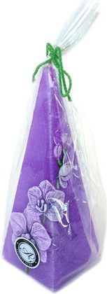 "Свеча ""Орхидея"" пирамида 7х24см Bartek Candles 185032"