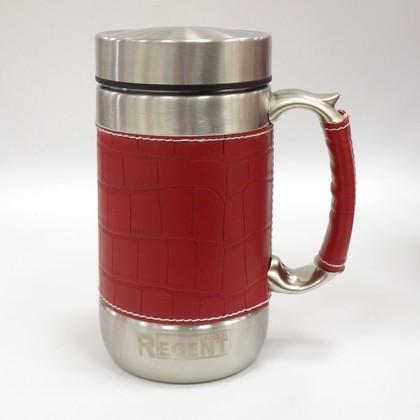 Кружка-термос в коже 0.52л красная Gotto Regent Inox 93-TE-GO-1-520.2