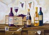 Подставки под тарелки на стол Top Art Studio Винотека 40х29см, 4шт, пробка GD2522-TA