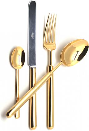Набор столовых приборов Cutipol Bali Gold, 24 предмета, золото 9311