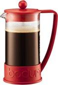 Кофейник с прессом 1.0л, красный Bodum BRAZIL 10938-294