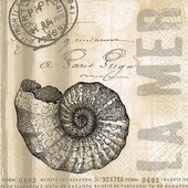 Салфетки для декупажа Море 33x33см, 3 слоя, 20шт Paper+Design 21773