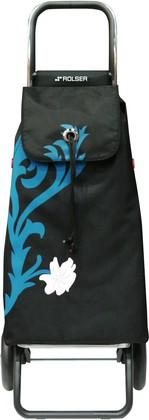 Сумка-тележка хозяйственная сине-чёрная Rolser LOGIC RG IMX010turquesa